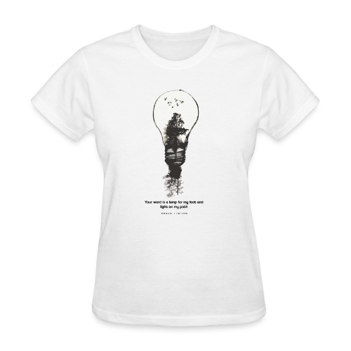 Psalm 119:105 - LAMP - Women's T-Shirt