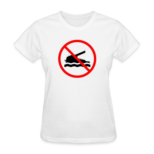 No Arty Swimming - Women's T-Shirt