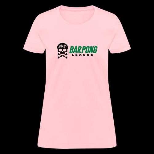 Bar Pong League Wide Logo - Women's T-Shirt