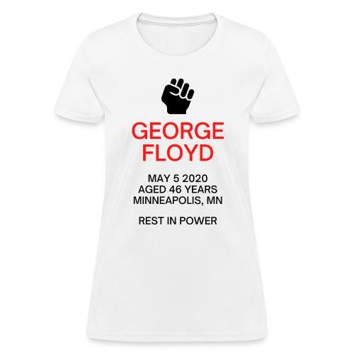 George Floyd Memorial(Black & Red version) - Women's T-Shirt