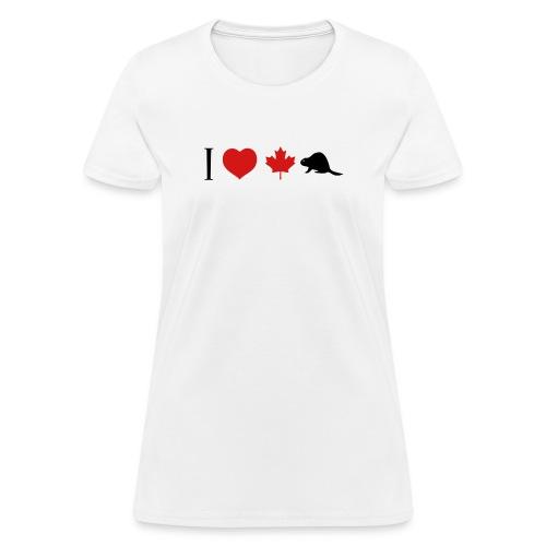 I Heart Canadian Beaver - Women's T-Shirt