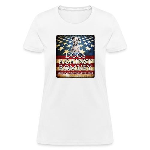 dolmationdogsagainstromneyflag - Women's T-Shirt