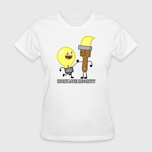 Lightbulb Paintbrush Duo - Women's T-Shirt