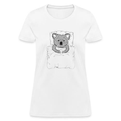 Print With Koala Lying In A Bed - Women's T-Shirt