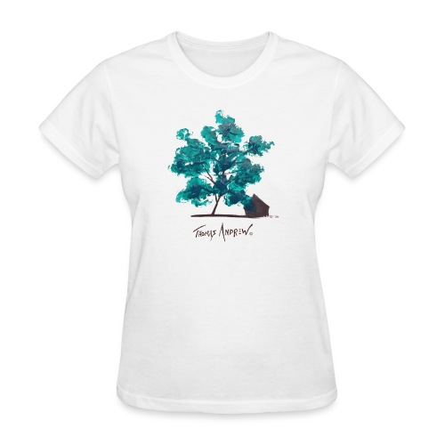 Teal Tree PNG - Women's T-Shirt