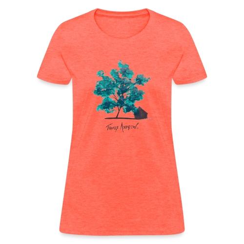 Teal Tree PNG - Women's T-Shirt