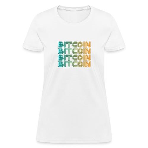 Bitcoin Art Deco Tshirt - Women's T-Shirt