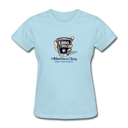 AMillionViewsADay - every view counts! - Women's T-Shirt