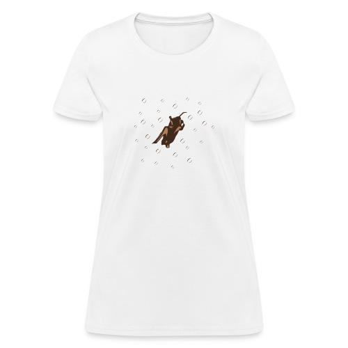 Orange Space Bat Hangs On Women's T-shirts - Women's T-Shirt