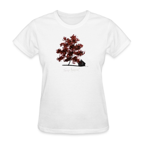 Red Tree design3PNG - Women's T-Shirt