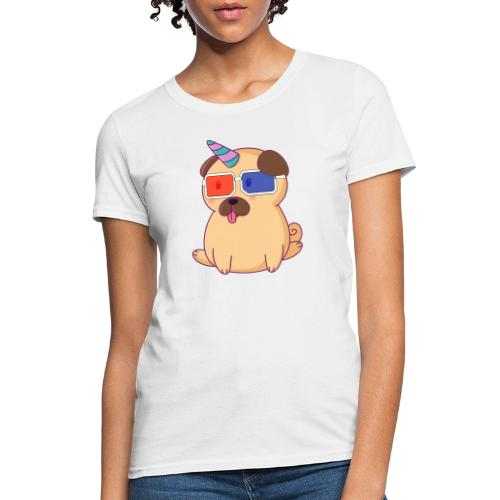 Dog with 3D glasses doing Vision Therapy! - Women's T-Shirt