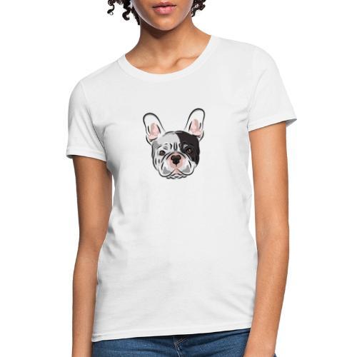 pngtree french bulldog dog cute pet - Women's T-Shirt