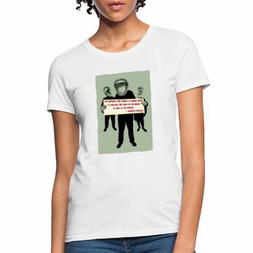 Frederick Douglass quote - Women's T-Shirt