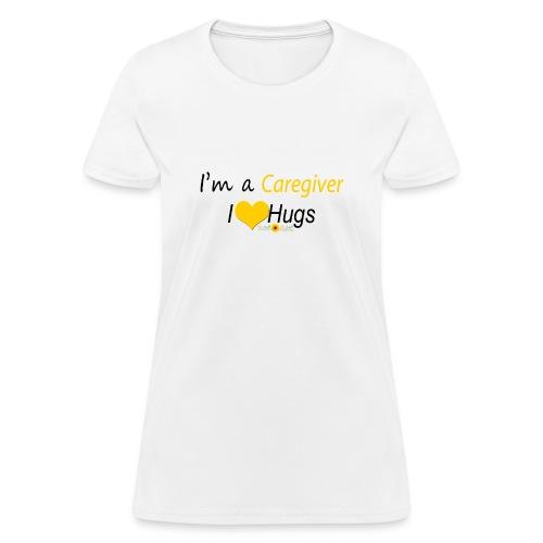 Caregiver Hugs - Yellow - Women's T-Shirt