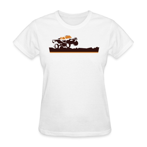 Race Truck Mud Run - Women's T-Shirt