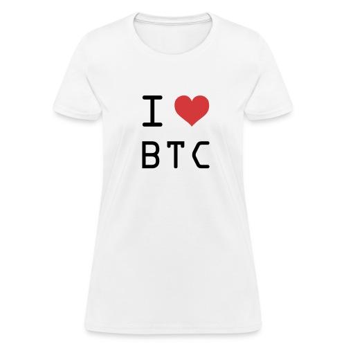 I HEART BTC (Bitcoin) - Women's T-Shirt