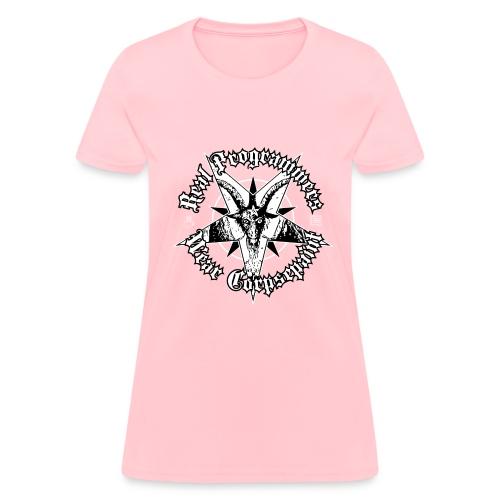 real programmers wear corpsepaint01 - Women's T-Shirt