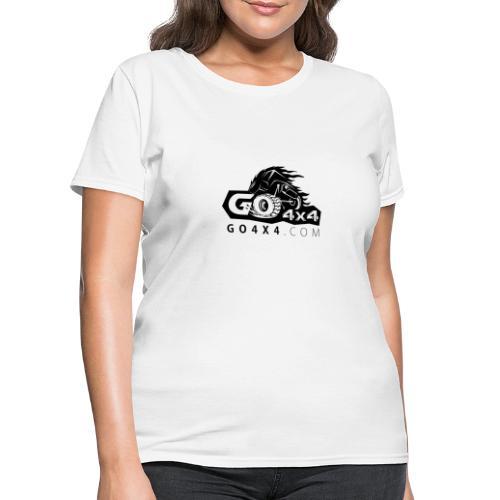 go bw white text black - Women's T-Shirt