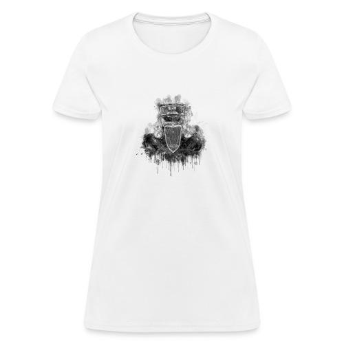 Black Hot Rod Ink Splat - Women's T-Shirt