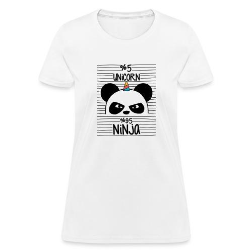 Unircorn Panda Ninja - Women's T-Shirt
