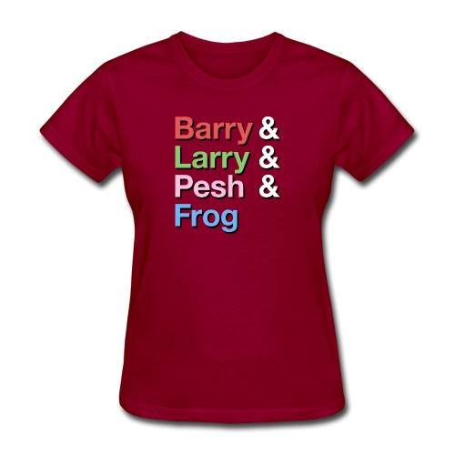 Barry-Larry-Pesh-Frog-Shi - Women's T-Shirt
