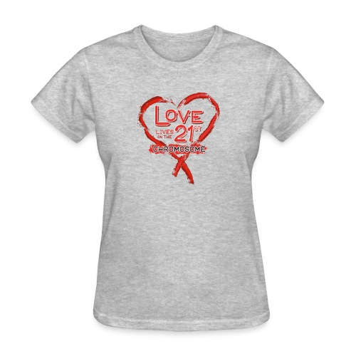 Down Syndrome Love (Red) - Women's T-Shirt