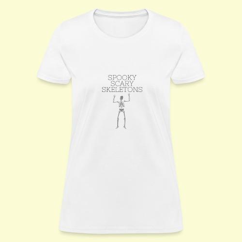 Spooky Scary Skeletons (1) - Women's T-Shirt