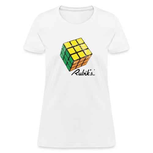 Rubik's Cube Solved Colourful Vintage - Women's T-Shirt