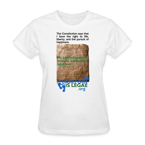 Constitution path to happiness - Women's T-Shirt