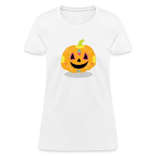 Halloween Funny skull zombie pumpkin Tee shirts - Women's T-Shirt
