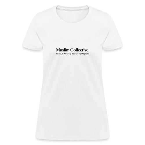 Muslim Collective Logo + tagline - Women's T-Shirt