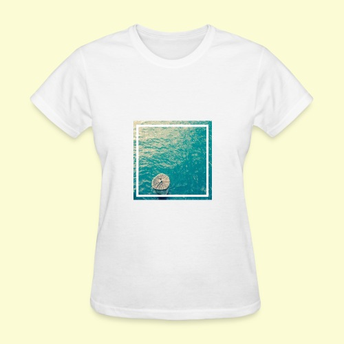 Framed ocean print - Women's T-Shirt