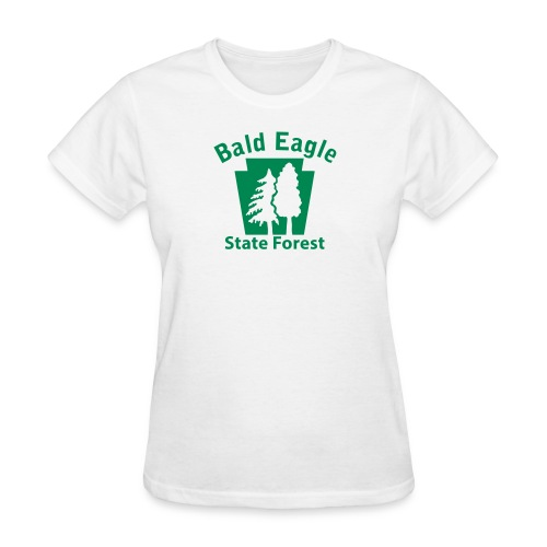 Bald Eagle State Forest Keystone (w/trees) - Women's T-Shirt