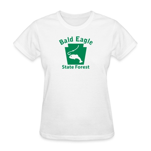Bald Eagle State Forest Fishing Keystone PA - Women's T-Shirt