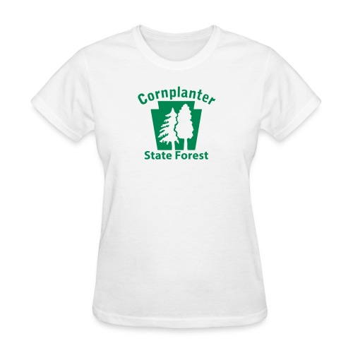 Cornplanter State Forest Keystone (w/trees) - Women's T-Shirt