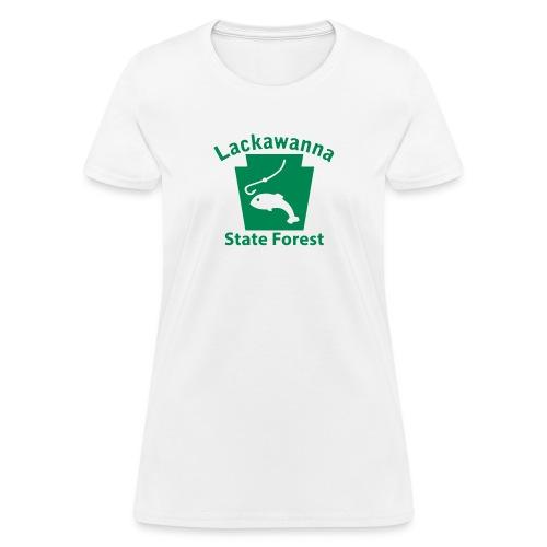 Lackawanna State Forest Fishing Keystone PA - Women's T-Shirt