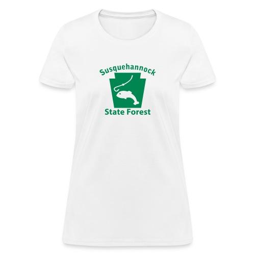 Susquehannock State Forest Fishing Keystone PA - Women's T-Shirt