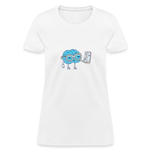 Cartoon Brain - Women's T-Shirt