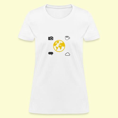 Yellow world print - Women's T-Shirt