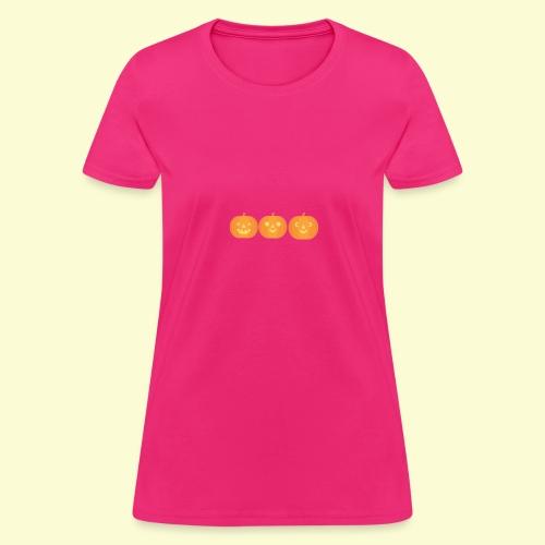 3 carved pumpkins - Women's T-Shirt