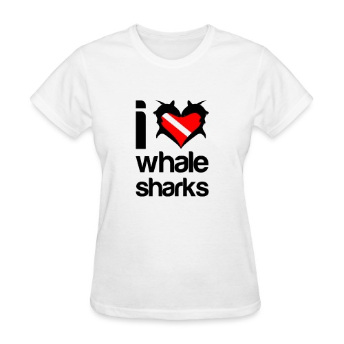 I Love Whale Sharks - Women's T-Shirt