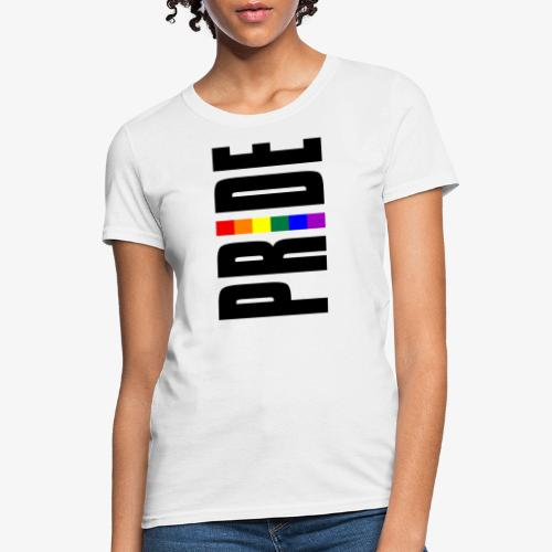 Vertical Pride with LGBTQ Pride Flag - Women's T-Shirt