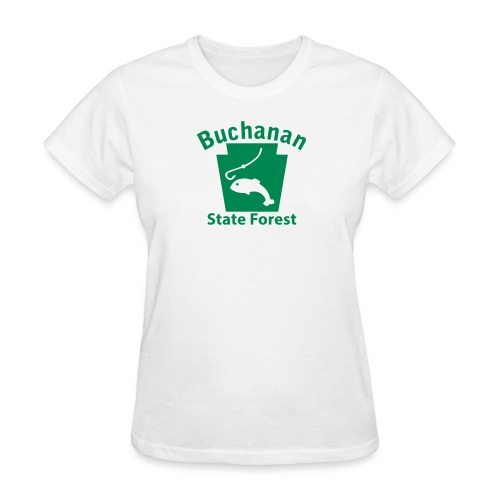 Buchanan State Forest Fishing Keystone PA - Women's T-Shirt