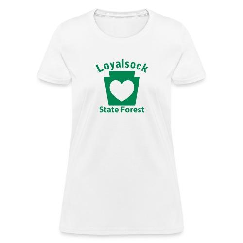 Loyalsock State Forest Keystone Heart - Women's T-Shirt