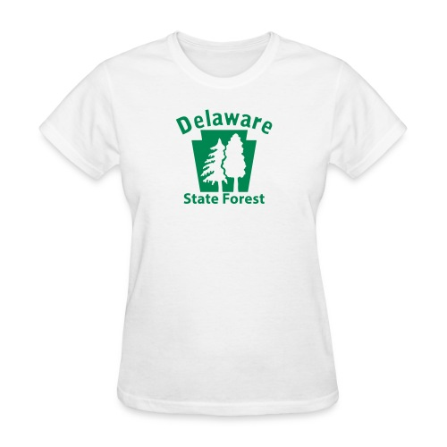 Delaware State Forest Keystone (w/trees) - Women's T-Shirt
