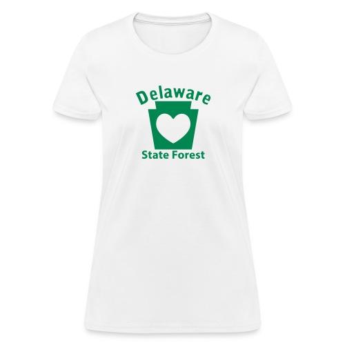 Delaware State Forest Keystone Heart - Women's T-Shirt