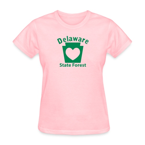 Delaware State Forest Keystone Heart - Women's T-Shirt