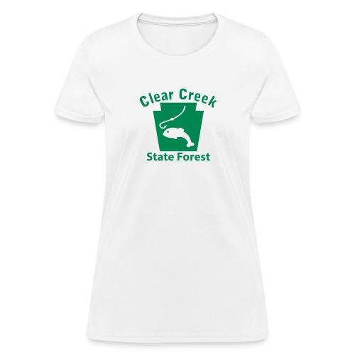 Clear Creek State Forest Fishing Keystone PA - Women's T-Shirt