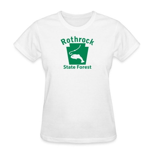 Rothrock State Forest Fishing Keystone PA - Women's T-Shirt