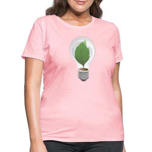 Clean Energy Green Leaf Illustration - Women's T-Shirt